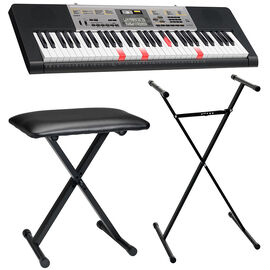 Casio 61-Key Lighted Keyboard with Stand and Bench