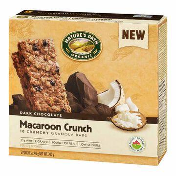 Nature's Path Organic Macaroon Crunch Bars - 5pack/200g