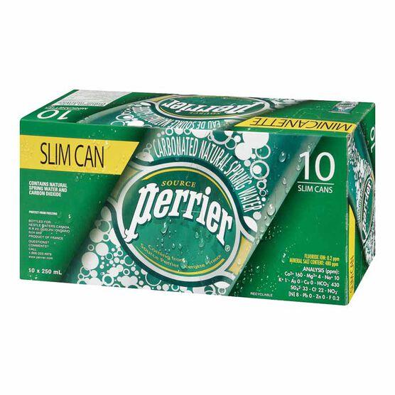 Perrier Slim Can - Original - 10 pack