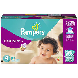 Pampers Cruisers Diapers - Size 4 - 136s