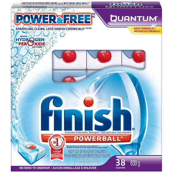 Finish Quantum Power & Free Dishwasher Capsules - 38's