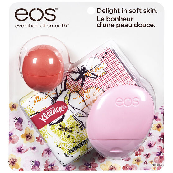 eos Spring Lip Balm with Kleenex - 131g