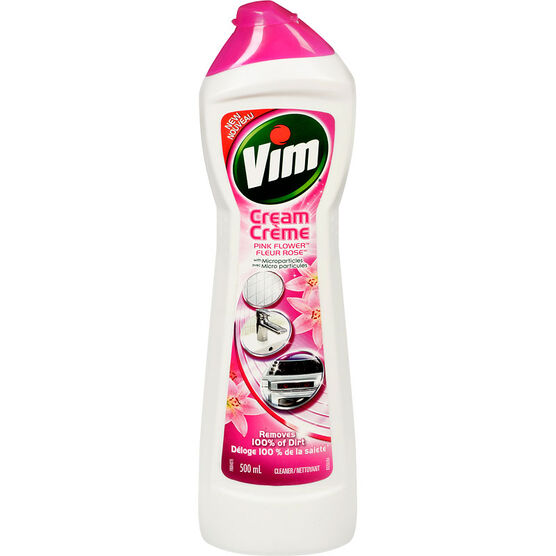 Vim Cream Cleaner - Pink Flower - 500ml