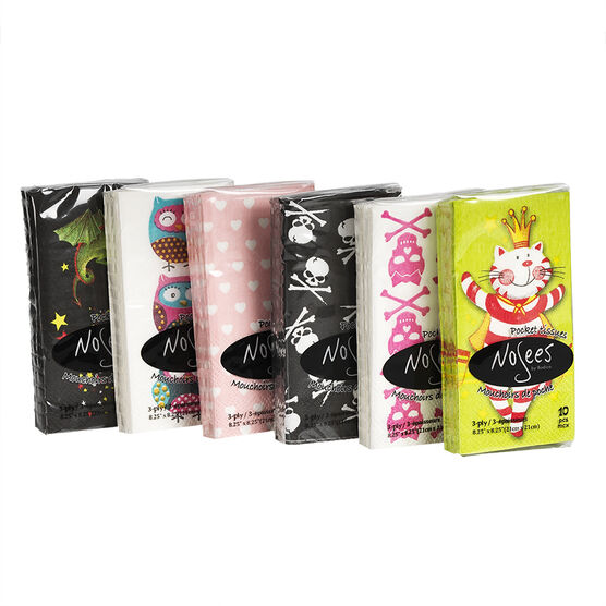 Nosees Pocket Tissue - Assorted - 10's/Kid