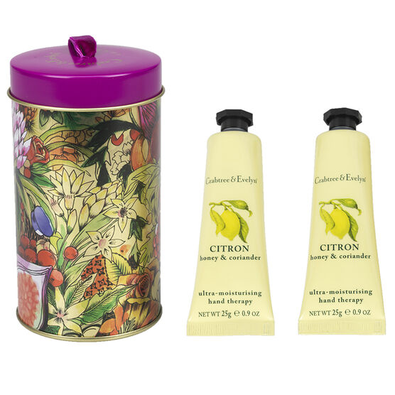 Crabtree & Evelyn Hand Therapy Ornament Tin - Citron, Honey & Coriander - 2x25g