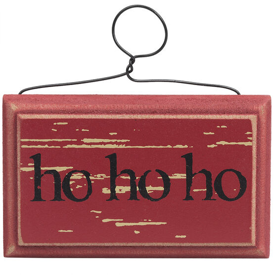 Winter Wishes Ho Ho Ho Ornament - 2.5in - XLD655287FOB