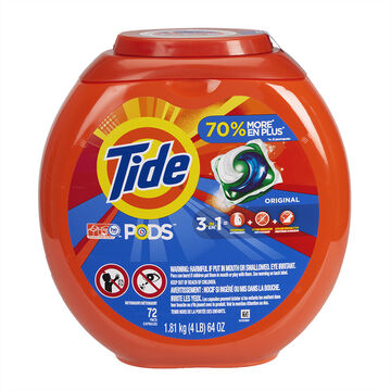 Tide Pods Laundry Detergent - Original - 72's
