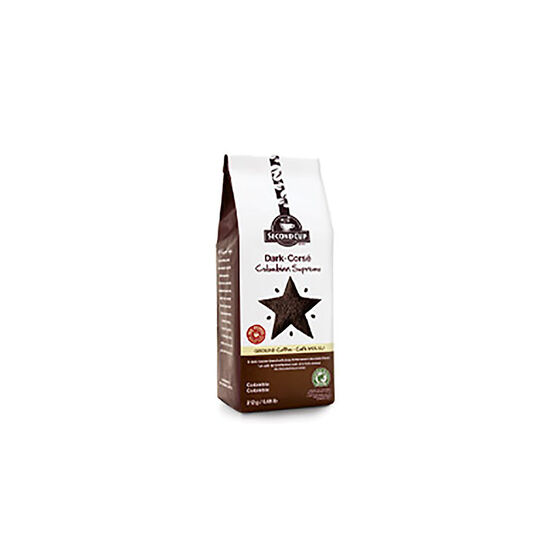 Second Cup Dark Roast Coffee - Colombian Supremo - 312g