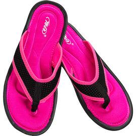 Tecs Women's Memory Foam Sandals - Fuchsia/Black - Sizes 6-10