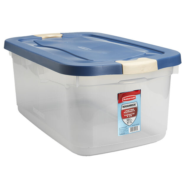 Rubbermaid Roughneck Latch Box - Clear - 47L