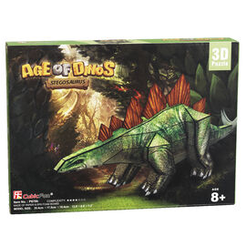 Age of Dinos Stegosaurus Paper/Foam 3D Puzzle - 38 Pieces