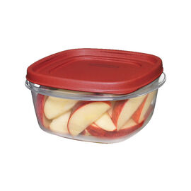 Rubbermaid Easy Find Lid Square Food Container - Chili Red - 1.2L