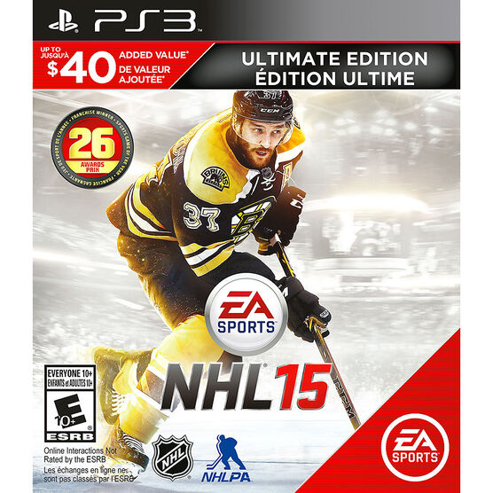 PS3 NHL 15 Ultimate Edition