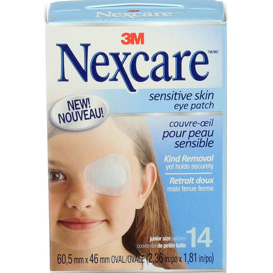 3M Nexcare Sensitive Skin Eye Patch - Junior Size - 14's