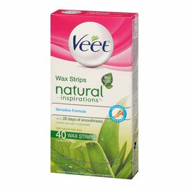Veet Natural Inspirations Wax Strips - Sensitive Formula - 40's
