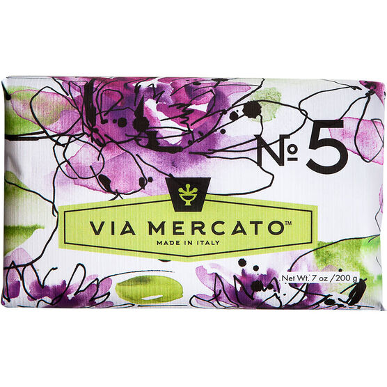 Via Mercato Soap - Water Lily & Sandalwood - 200g