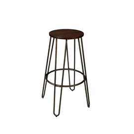 London Drugs Elmwood Bar Stool with Metal Legs - 39 x 39 x 76cm