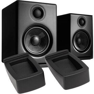 Audioengine A2+ Premium Powered Desktop Speakers with Stands - Black