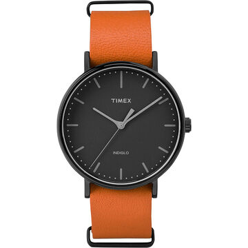 Timex Weekender Fairfield - Black/Orange - TW2P91400ZA