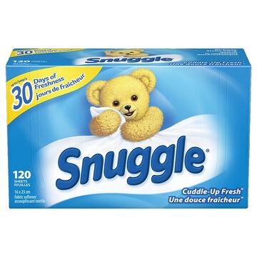 Snuggle Fabric Softener Sheets - Cuddle-Up Fresh - 120's