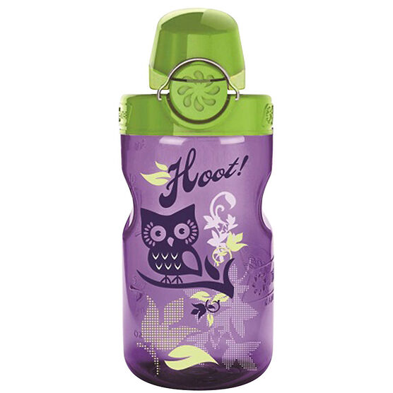 Nalgene Kids On The Fly Hoot Bottle - Purple - 375 ml
