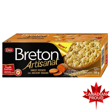 Breton Artisanal Crackers - Sweet Potato and Ancient Grains - 150g