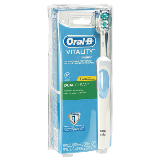 Oral-B Vitality Dual Clean Rechargeable Electric Toothbrush - 86002