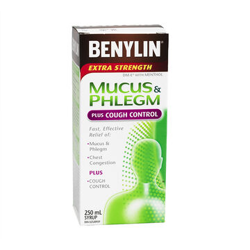 Benylin Extra Strength Mucous & Phlegm Relief & Cough Control - 250ml