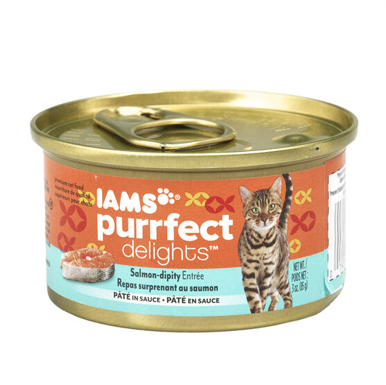 Iams Purrfect Delight Cat Food - Salmon-dipity - 85g