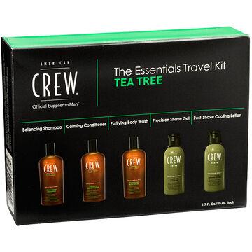 American Crew The Essentials Travel Kit Tea Tree - 5 x 50ml