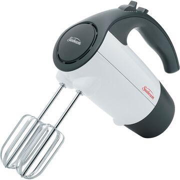 Sunbeam 6 Speed Classic Hand Mixer - White/Grey - 2524-33