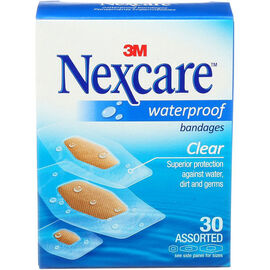 3M Nexcare Waterproof Bandages - 30's