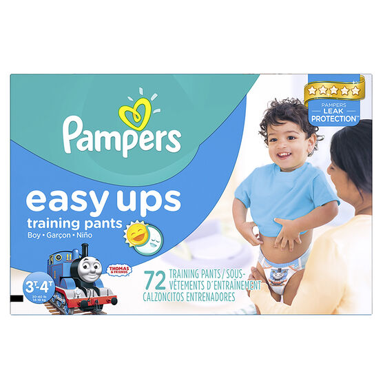 Pampers Easy Ups Trainers- Boys - 3T-4T - 72's/Super