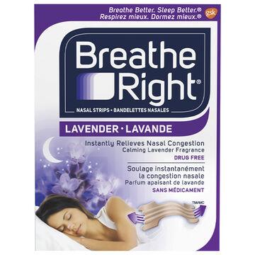 Breathe Right Nasal Strips Lavender - 8's