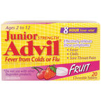 Advil Junior Chewable Tablets - Fruit - 20's