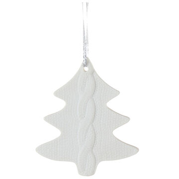 Winter Wishes Blue Ice Tree Ornament - White