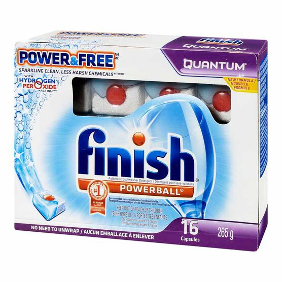 Finish Quantum Power & Free Dishwasher Capsules - 16's