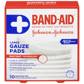 Johnson & Johnson Band-Aid Gauze Pad - 10.1 x 10.1cm