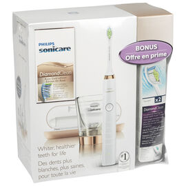 Philips Sonicare DiamondClean Electric Toothbrush Bonus Pack - Rose Gold