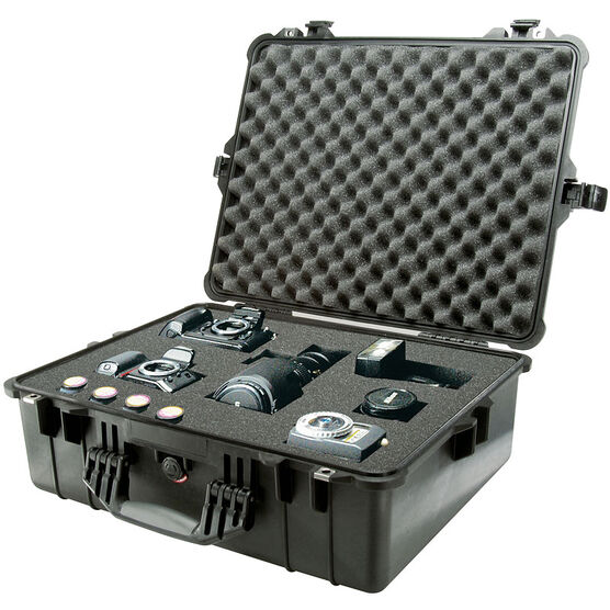 Pelican 1600 Case with Foam - Black - 1600-000-110