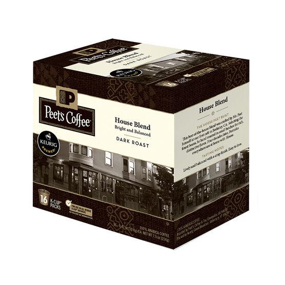 Peet's House Blend Keurig Coffee Pods - Dark Roast - 16's