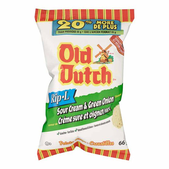 Old Dutch Sour & Cream Onion Chips - 66g