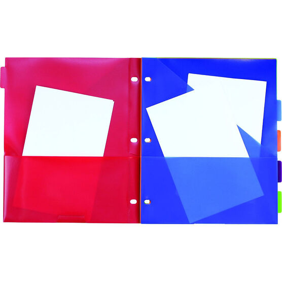 Five Star Three Pocket Tabbed Dividers - Assorted - 5 Pack