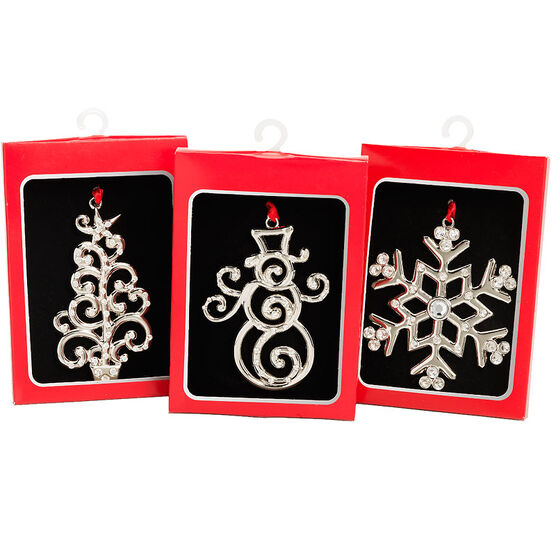 London Look Metal Hanging Ornament -  3 to 4.5inch - Assorted