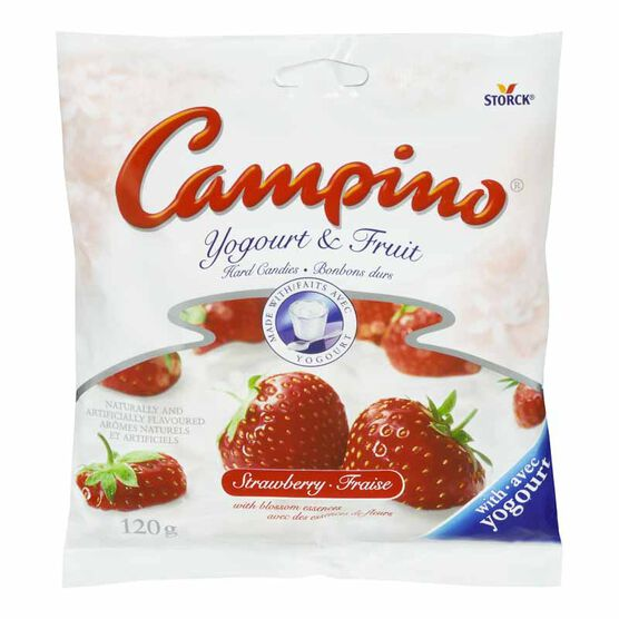 Campino Yogourt & Fruit Hard Candies - Strawberry - 120g
