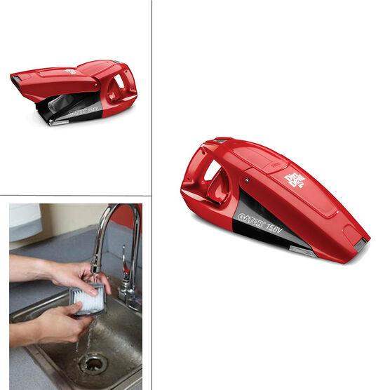 dirt devil gator cordless hand vacuum red bd10125. Black Bedroom Furniture Sets. Home Design Ideas