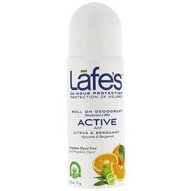 Lafe's Active Roll On Deodorant - Citrus & Bergamot - 71g