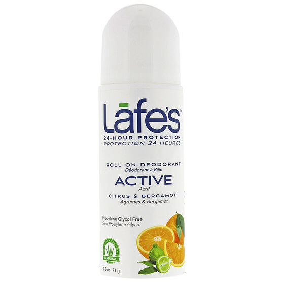Lafe's Active Roll On Deodorant - Citrus & Bergamot - 71g
