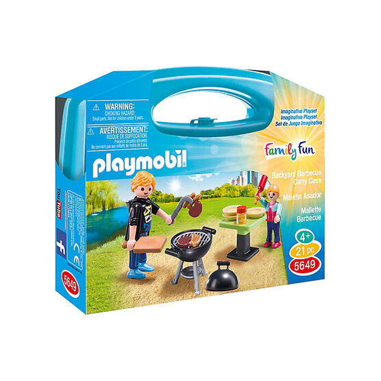 Playmobil Family Fun - Backyard Barbecue Carry Case - Small