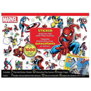 Marvel Sticker Activity Pad with Play Scenes